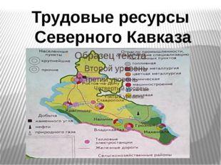 Трудовые ресурсы Северного Кавказа