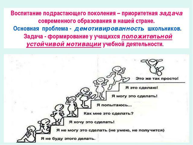 Воспитание подрастающего поколения – приоритетная задача современного образов...
