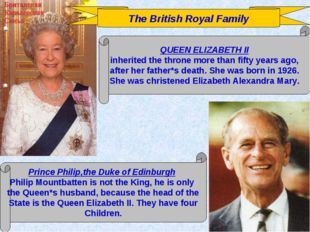 The British Royal Family QUEEN ELIZABETH II inherited the throne more than fi