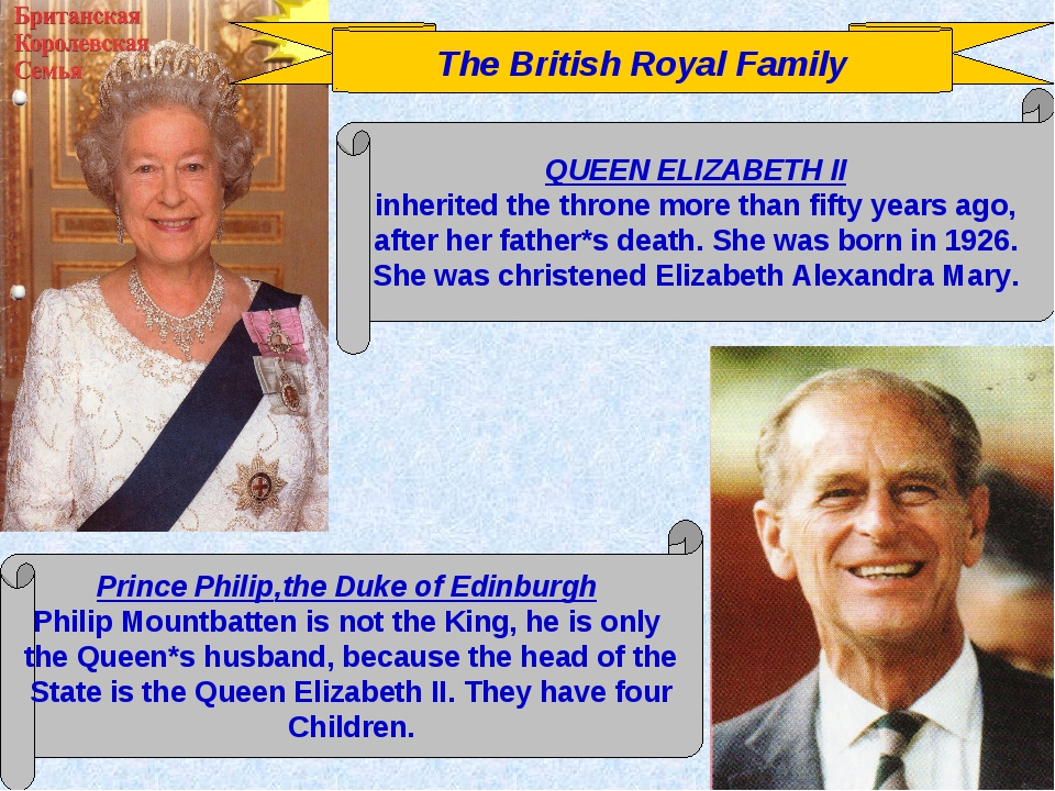 The British Royal Family QUEEN ELIZABETH II inherited the throne more than fi...