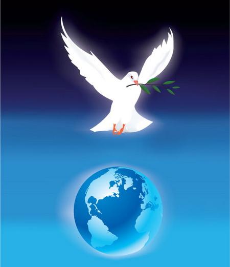 Голубь мира...