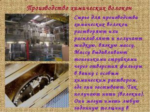 Сырье для производства химических волокон растворяют или расплавляют и получа