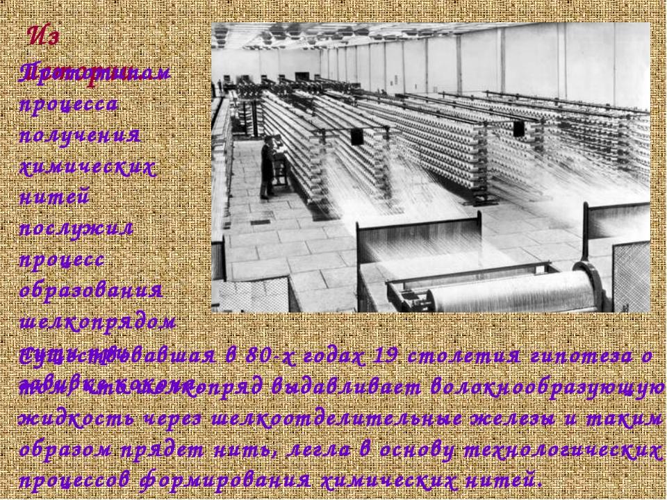 Существовавшая в 80-х годах 19 столетия гипотеза о том, что шелкопряд выдавли...
