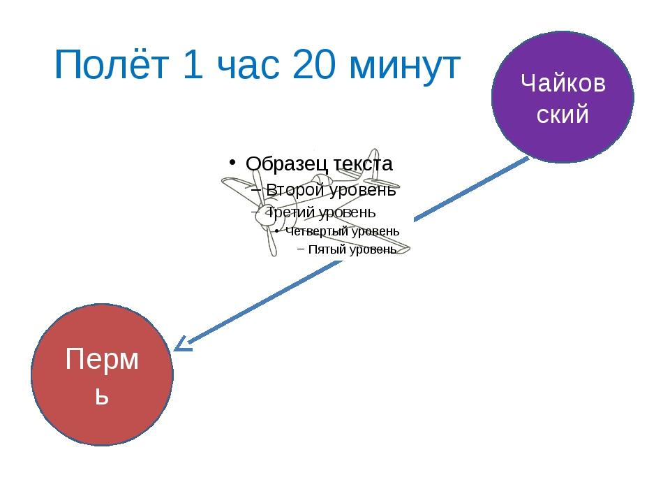 Полёт 1 час 20 минут Пермь Чайковский