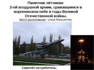 Памятник лётчикам 2-ой воздушной армии, сражавшимся в воронежском небе в годы