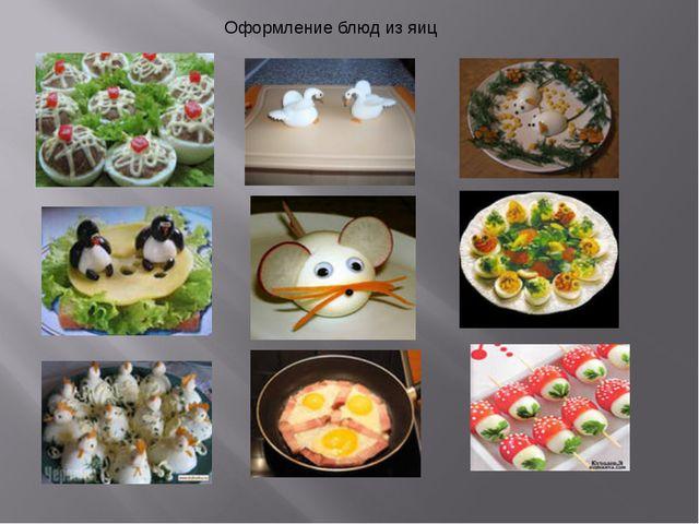 Оформление блюд из яиц