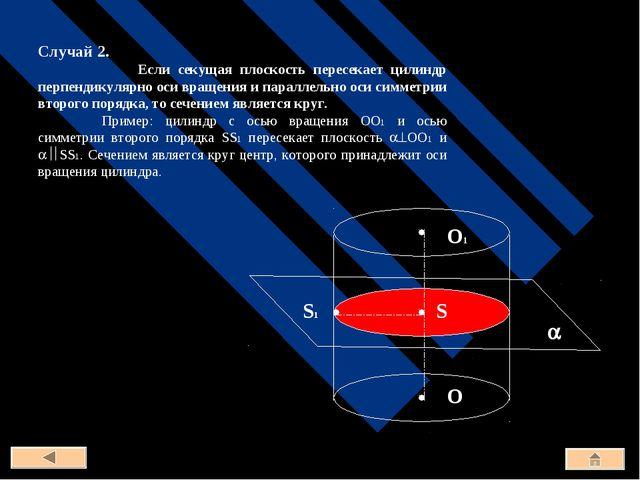 Случай 2. Если секущая плоскость пересекает цилиндр перпендикулярно оси враще...