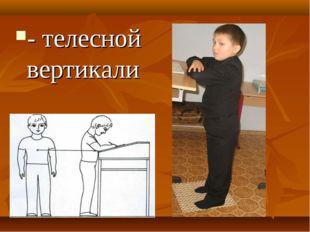 - телесной вертикали