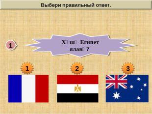 1 Хӑшӗ Египет ялавӗ?