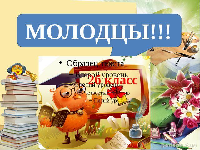 МОЛОДЦЫ!!! 2б класс