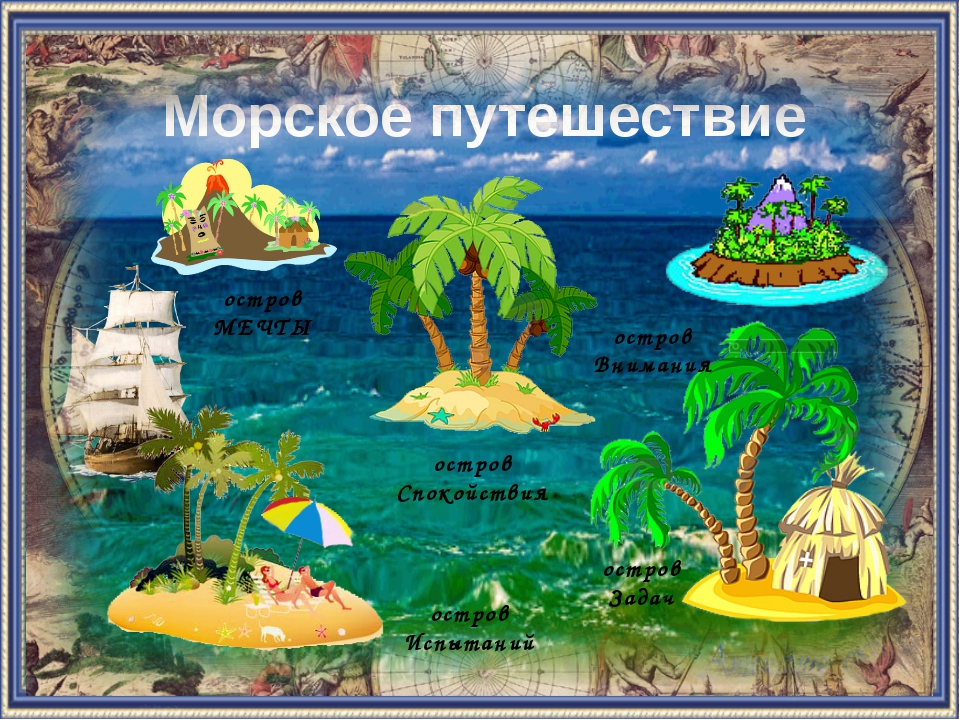 Морское путешествие остров Испытаний остров Спокойствия остров МЕЧТЫ остров З...