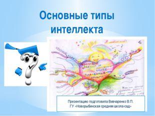 Основные типы интеллекта Презентацию подготовила Вивчаренко В.П. ГУ «Новорыби