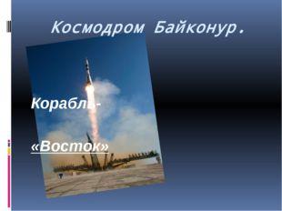 Космодром Байконур. Корабль- «Восток»