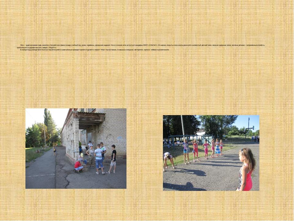 Лето – чудесное время года, веселое и беззаботное. Давно позади учебный...