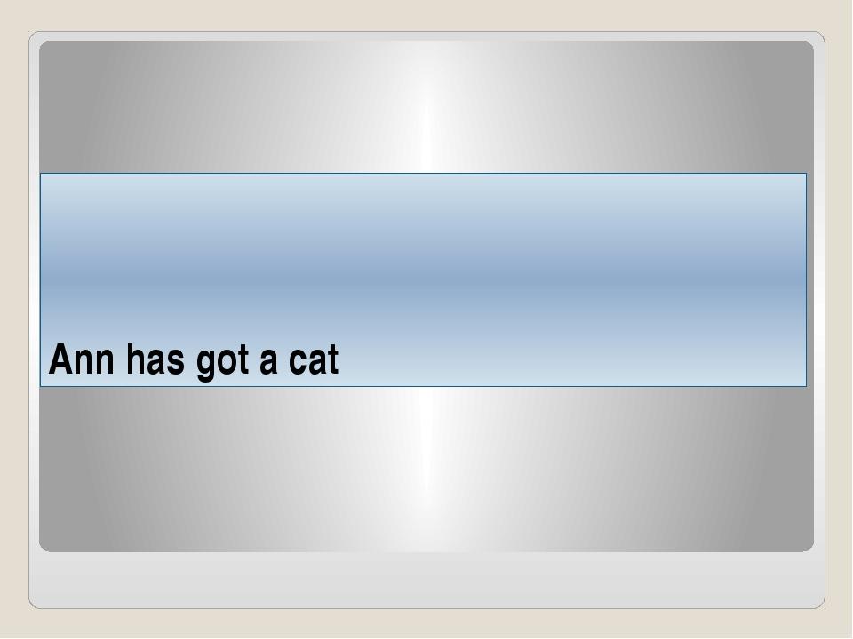 Ann has got a cat