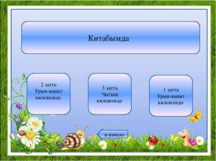 Китабымда 2 затта Урын-вакыт килешендә 3 затта Чыгыш килешендә 1 затта Урын-в
