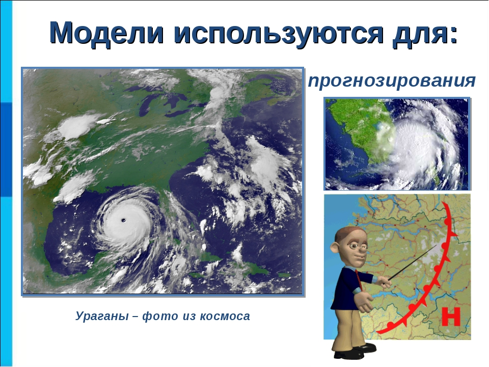 прогнозирования Ураганы – фото из космоса Модели используются для: