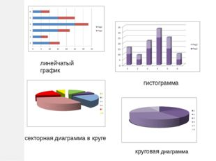 линейчатый график гистограмма секторная диаграмма в круге круговая диаграмма