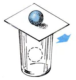 Инертность неподвижного шарика