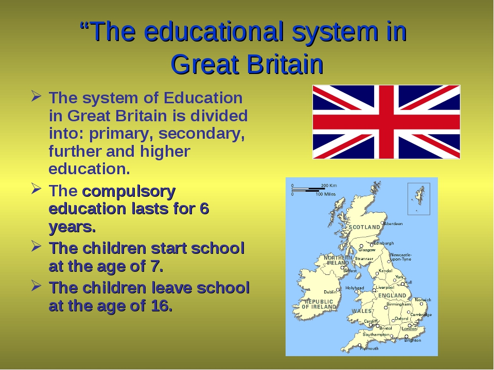 """The educational system in Great Britain The system of Education in Great Bri..."