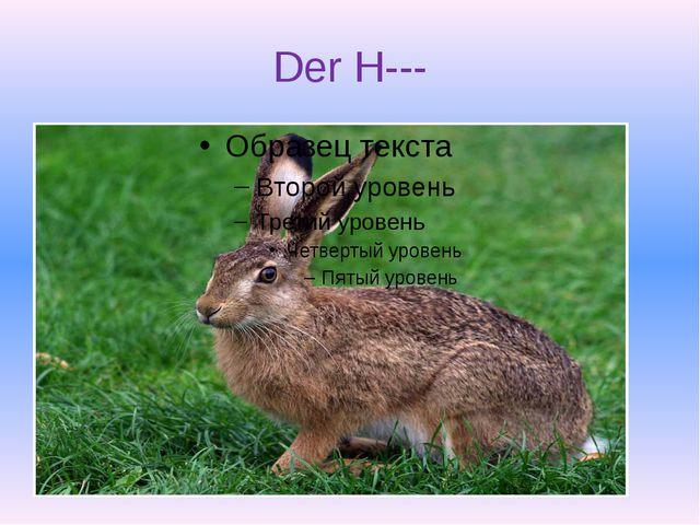 Der H---