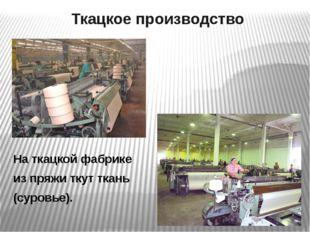 Отделочное производство - Отбеливание - Крашение - Печатание Ткань готова!