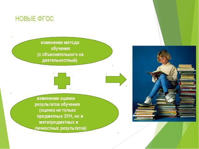 НОВЫЕ ФГОС изменение метода обучения (с объяснительного на деятельностный) из...