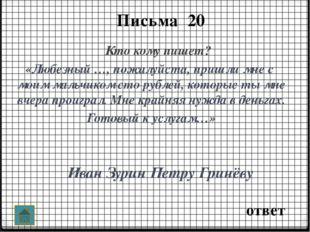 ответ Портрет героя 40 Иван Зурин «Высокий барин, лет тридцати пяти, с длинн