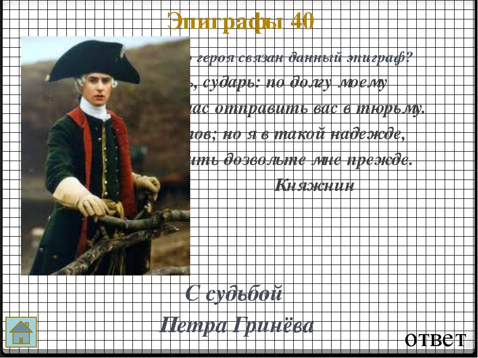 ответ Кто из героев 10 Родители Гринёва, Пётр Гринёв Кто из героев изображён...