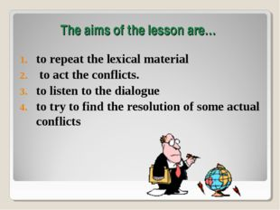to repeat the lexical material