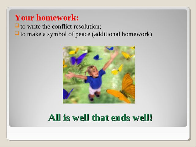 Your homework: