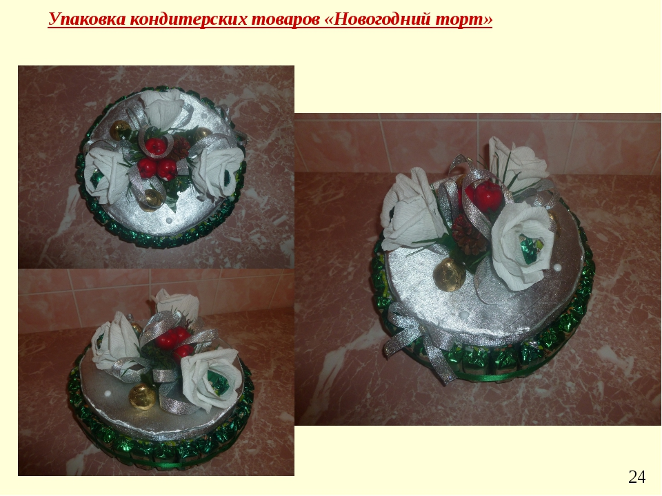 Упаковка кондитерских товаров «Новогодний торт» 24