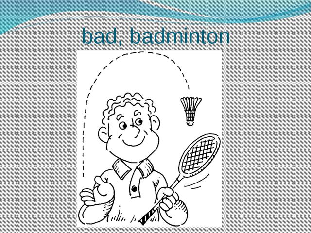 bad, badminton