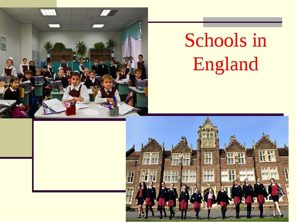 Schools in England