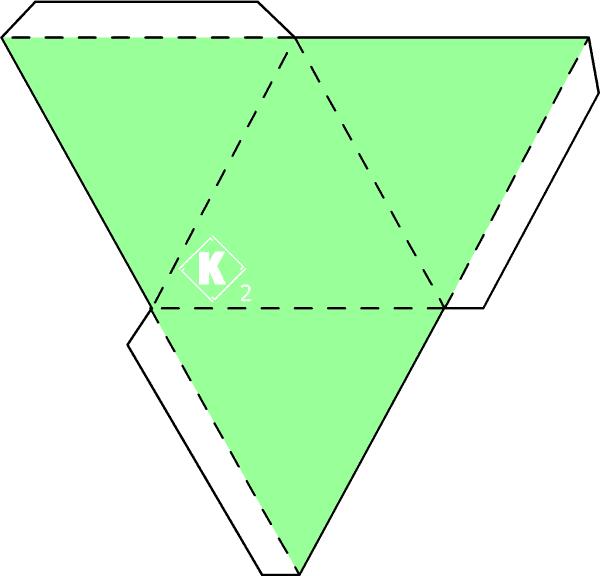 Как сделать объёмный треугольник