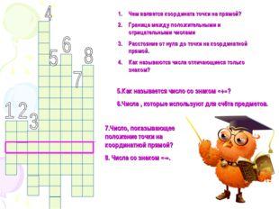 Чем является координата точки на прямой? Граница между положительными и отриц