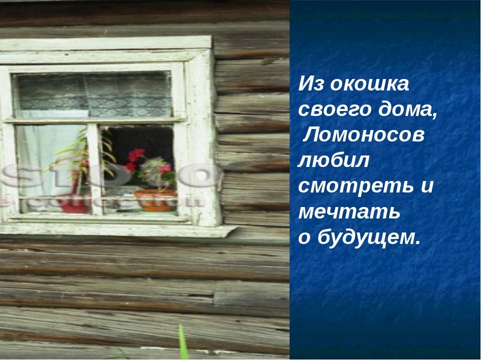 Из окошка своего дома, Ломоносов любил смотреть и мечтать о будущем.