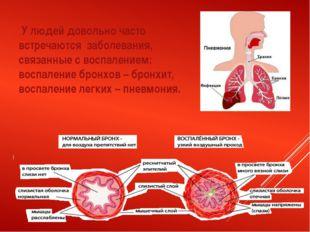 У людей довольно часто встречаются заболевания, связанные с воспалением: вос