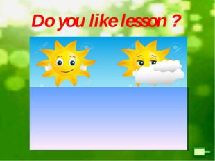Do you like lesson ?