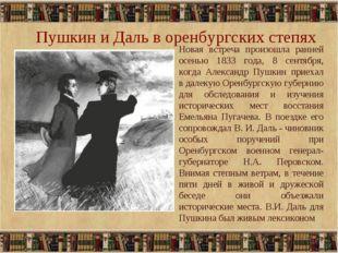 Пушкин и Даль в оренбургских степях * Новая встреча произошла ранней осенью 1