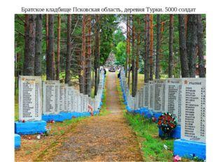 Братское кладбище Псковская область, деревня Турки. 5000 солдат