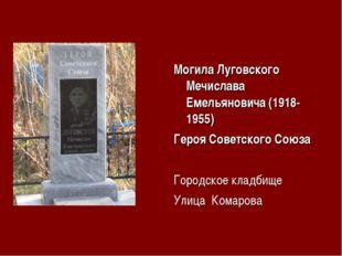 Могила Луговского Мечислава Емельяновича (1918-1955) Героя Советского Союза Г