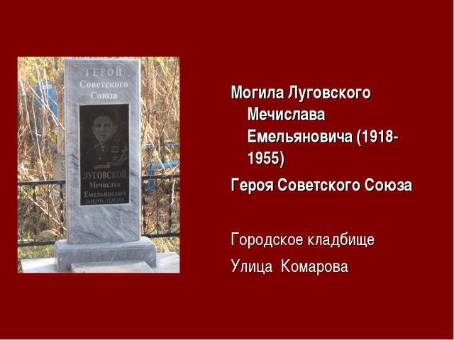 Могила Луговского Мечислава Емельяновича (1918-1955) Героя Советского Союза Г...