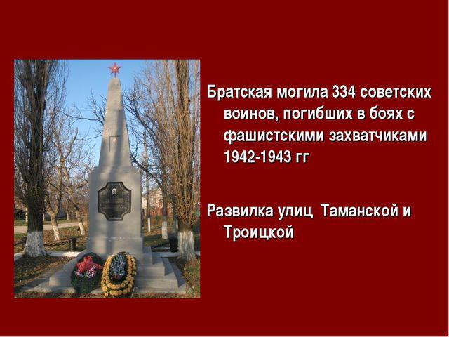 Братская могила 334 советских воинов, погибших в боях с фашистскими захватчик...