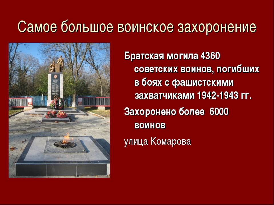 Самое большое воинское захоронение Братская могила 4360 советских воинов, пог...