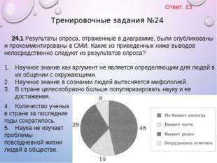 24.1 Результаты опроса, отраженные в диаграмме, были опубликованы и прокоммен