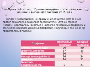 В 2005 г. Всероссийский центр изучения общественного мнения провел социологич