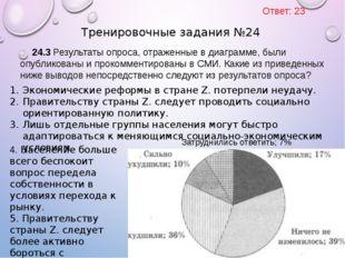 24.3 Результаты опроса, отраженные в диаграмме, были опубликованы и прокоммен