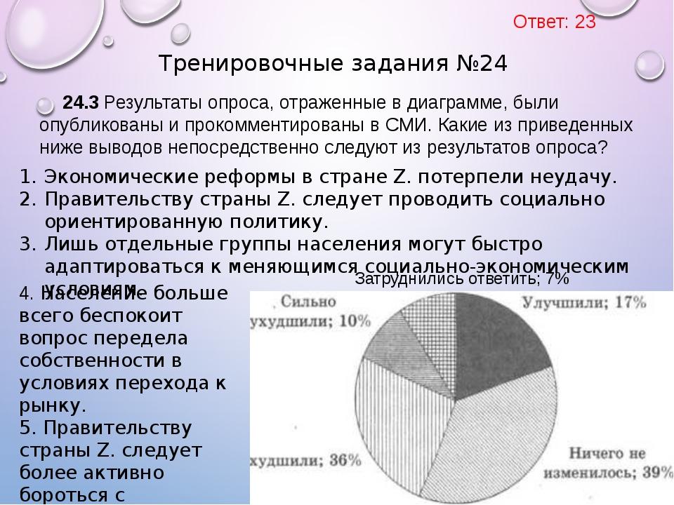 24.3 Результаты опроса, отраженные в диаграмме, были опубликованы и прокоммен...