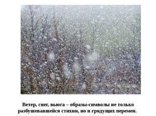 Ветер, снег, вьюга – образы-символы не только разбушевавшейся стихии, но и гр